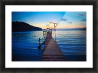 Ko Kut pier Picture Frame print