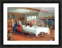 A meal stop at a coaching inn Picture Frame print