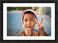Bangkok boy Picture Frame print