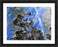 Blue Rock Picture Frame print