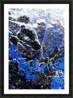 Blue Cliff Picture Frame print