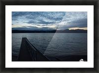Dusky Dock on Champlain  Picture Frame print