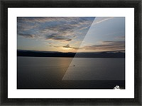 Sunset Boating on Champlain II Picture Frame print