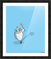 PLayful Robot Picture Frame print