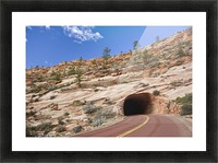 Zion Park Tunnel Picture Frame print