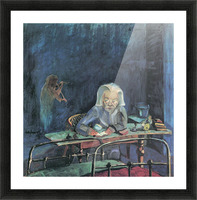 The mother of Sonia Gramatte by Walter Gramatte Picture Frame print