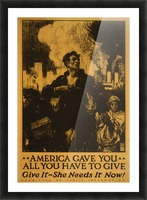 America gave it all Picture Frame print