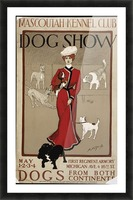 Dog Show Picture Frame print