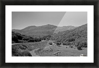 Greek roads in the rural area Picture Frame print