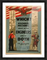 Engineers Picture Frame print
