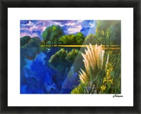 Cattails Picture Frame print