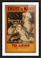 Enlist in the Navy Picture Frame print
