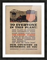 Government work Picture Frame print