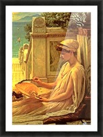 On the terrace Picture Frame print