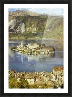 Isola San Giulio, 1898 Picture Frame print