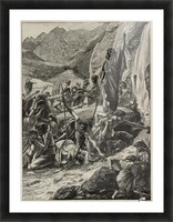 Moses strikes the rock Picture Frame print