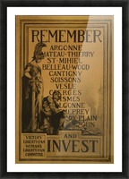 Invest Picture Frame print