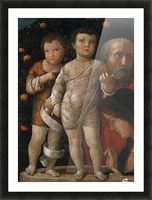 The Holy Family with St John Picture Frame print