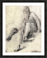 Saint Jerome Reading with the Lion Picture Frame print