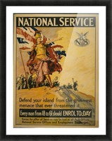 National Service Picture Frame print