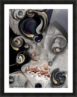 Vision of Aesthetic Thing  Picture Frame print