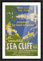 Visit Sea Cliff Picture Frame print
