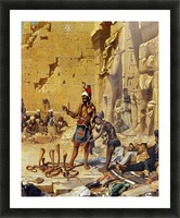 A Snake Charmer Picture Frame print