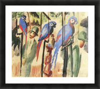 With the Parrots I by August Macke Picture Frame print