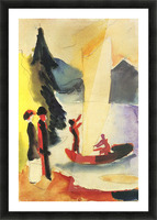 Yellow Sail by August Macke Picture Frame print