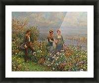 People in the garden Picture Frame print