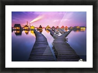 Two worlds Picture Frame print