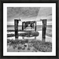 Derelict Pier Picture Frame print