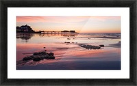 Pier Sunset Picture Frame print