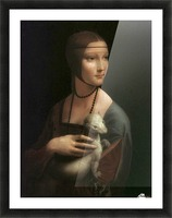 The Lady with Ermine Picture Frame print
