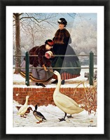 Winter Walk Picture Frame print