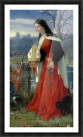 Allegorical Maiden in red dress Picture Frame print