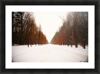 Snowy winter road Picture Frame print