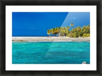 Tropical island background Picture Frame print
