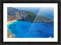 Navagio beach with shipwreck on Zakynthos island in Greece Picture Frame print