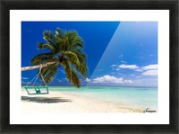 Untouched tropical beach in Maldives Picture Frame print