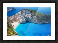 Amazing Navagio Beach in Zakynthos Island, Greece Picture Frame print