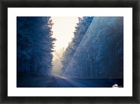 Winter road Picture Frame print