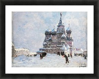 Red Square Picture Frame print