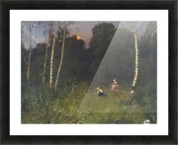 Twilight with figures Picture Frame print