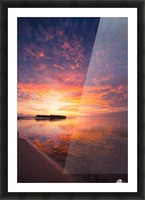 Beautiful tropical beach sunset Picture Frame print