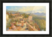 The Sierra Nevada from the Alhambra Picture Frame print
