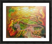 Dragon's eye view Picture Frame print
