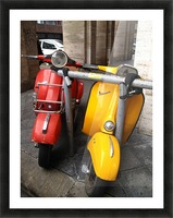 Scooter Buddies Picture Frame print