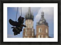 Cherub Silhouette Picture Frame print