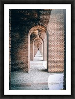 Infinite Arches-Tunnel Picture Frame print